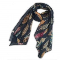 S6405 Leaf Flower Pattern Soft Scarf Large Wrap Scarves Shawl