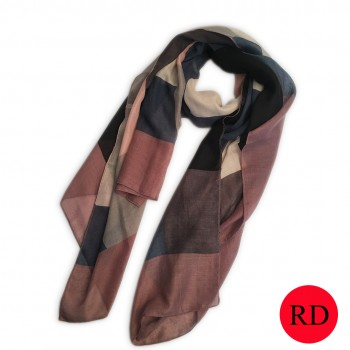 S6406 Colorful squares Pattern Soft Scarf Large Wrap Scarves Shawl