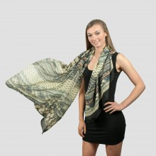 S6409 - Ladies Large  Soft Scarf Wrap Geometric Figure  Scarves Shawl
