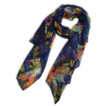 S6410 flowering shrubs Pattern Soft Scarf Large Wrap Scarves Shawl