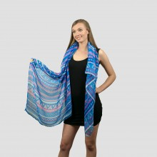 S6411 - Ladies Large  Soft Scarf Wrap Bohemian Scarves Shawl