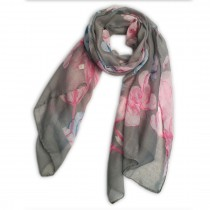 S6412-flower Pattern Soft Scarf Large Wrap Scarves Shawl