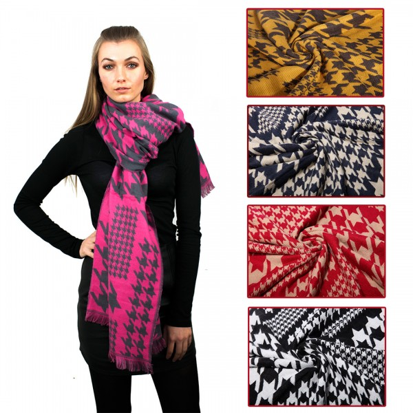 S6418 - Women New Stylish Soft  Warm Wrap Birds Printed Shawl Scarf