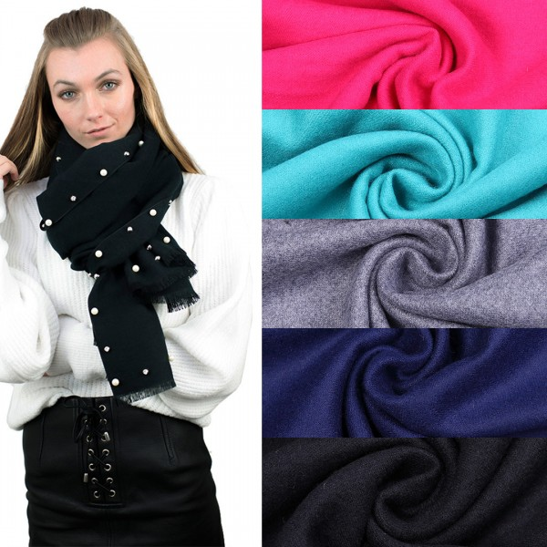 S6424 - Women Stylish Soft Warm Wrap Pure Color Shawl Scarf 1 piece