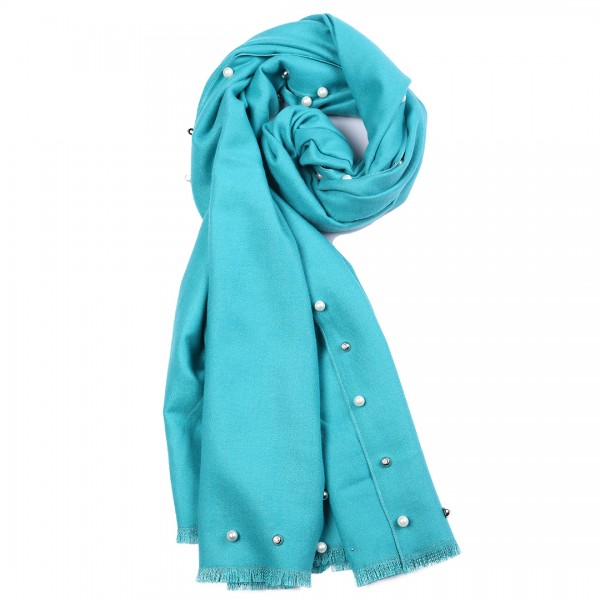 S6424 set - Women Stylish Soft Warm Wrap Pure Color Shawl Scarf 12 pieces