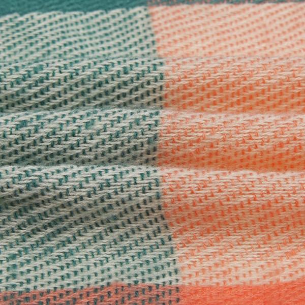 S6430-Women Ladies Fashion Long Shawl Grid Tassel Winter Warm Lattice Large Scarf Green