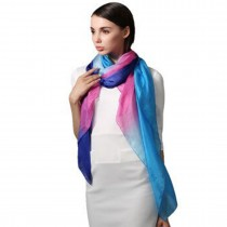 G6604-Women Soft Long Thin  Chiffon Scarf Multi-Colour  SHAWL SARONG