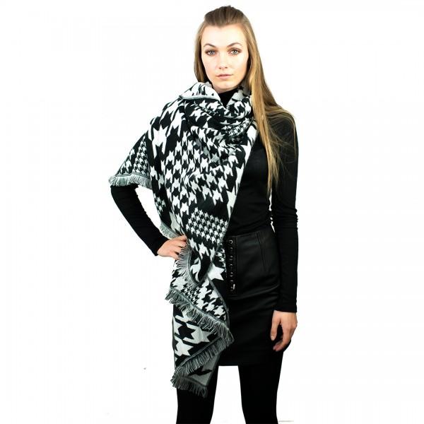 S6418 - Women New Stylish Soft  Warm Wrap Birds Printed Shawl Scarf
