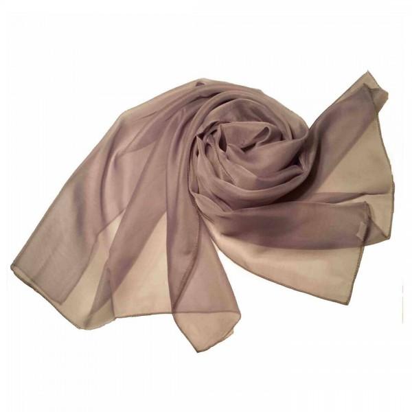 ZQ-001 - Women Ladies Fashion Long Shawl Shimmer Evening Wrap Sheer Scarf - Brown
