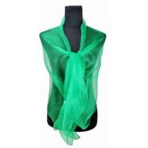 ZQ-001 - Kobiety Moda Długa Shawl Shimmer Wieczorny Owiń Owłosy Blizność - Zielony