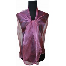 ZQ-001 - Women Ladies Fashion Long Shawl Shimmer Evening Wrap Sheer Scarf - Wine Red
