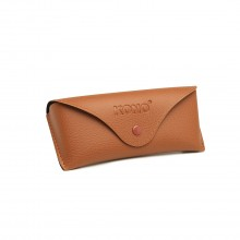 G4041 - Kono Leather Look Soft Sonnenbrillenetui - Braun