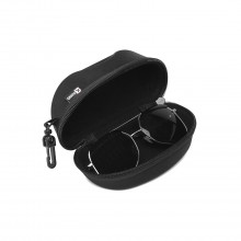 G4042 - Kono Hard Shell Zipper Sunglasses Case - Black