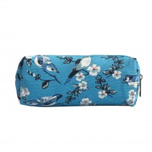 PC 16J - Miss Lulu Canvas Pencil Case Birds Blue