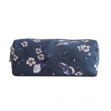 PC-16J NY - Miss Lulu Canvas Pencil Case Birds Navy